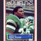 1983 Topps Football #352 Abdul Salaam - New York Jets