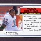 1983 Topps Football #308 Miami Dolphins Team Leaders / Andra Franklin