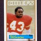 1983 Topps Football #288 Billy Jackson - Kansas City Chiefs