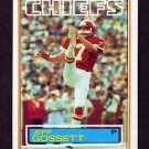 1983 Topps Football #285 Jeff Gossett RC - Kansas City Chiefs