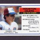 1983 Topps Football #271 Houston Oilers Team Leaders / Gifford Nielsen
