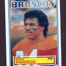 1983 Topps Football #266 Rick Parros - Denver Broncos