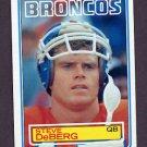 1983 Topps Football #261 Steve DeBerg - Denver Broncos