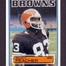 1983 Topps Football #250 Ricky Feacher - Cleveland Browns