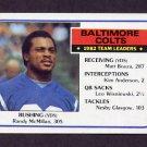 1983 Topps Football #208 Baltimore Colts Team Leaders / Randy McMillan