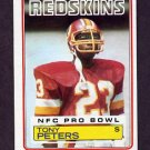 1983 Topps Football #197 Tony Peters - Washington Redskins