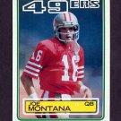 1983 Topps Football #169 Joe Montana - San Francisco 49ers