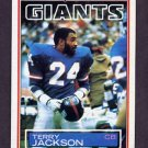 1983 Topps Football #127 Terry Jackson - New York Giants
