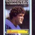 1983 Topps Football #105 Joe Senser - Minnesota Vikings