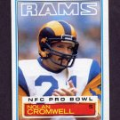 1983 Topps Football #088 Nolan Cromwell - Los Angeles Rams