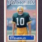 1983 Topps Football #085 Jan Stenerud - Green Bay Packers