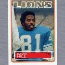 1983 Topps Football #066 David Hill - Detroit Lions