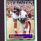 1983 Topps Football #035 Bob Parsons - Chicago Bears