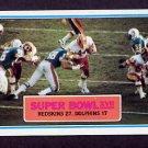 1983 Topps Football #012 Super Bowl XVII / John Riggins