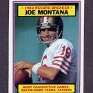 1983 Topps Football #004 Joe Montana RB - San Francisco 49ers