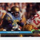 1991 Stadium Club Football #250 Eric Turner RC - Cleveland Browns