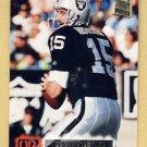 1994 Stadium Club Football #450 Jeff Hostetler - Los Angeles Raiders