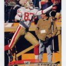 1996 Stadium Club Football #026 J.J. Stokes - San Francisco 49ers