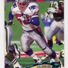 1997 Stadium Club Football #296 Ted Johnson - New England Patriots