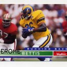 1995 Skybox Impact Football #120 Jerome Bettis - St. Louis Rams