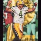 1996 Skybox Impact Football #195 Brett Favre Highlights - Green Bay Packers