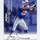 1999 Skybox Premium Football Autographics #68 Tony Simmons - New England Patriots