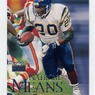 1999 Skybox Premium Football #092 Natrone Means - San Diego Chargers