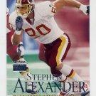 1999 Skybox Premium Football #053 Stephen Alexander - Washington Redskins