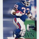 1999 Skybox Premium Football #029 Gary Brown - New York Giants