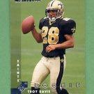 1997 Donruss Football #214 Troy Davis RC - New Orleans Saints