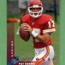 1997 Donruss Football #213 Pat Barnes RC - Kansas City Chiefs