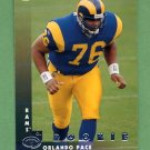 1997 Donruss Football #202 Orlando Pace RC - St. Louis Rams