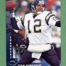 1997 Donruss Football #083 Stan Humphries - San Diego Chargers