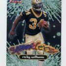 1999 Fleer Focus Football Sparklers #6S Ricky Williams - New Orleans Saints