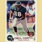 1999 Fleer Focus Football #153 Cecil Martin RC - Philadelphia Eagles /2500