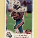 1999 Fleer Focus Football #150 James Johnson RC - Miami Dolphins /2500