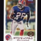 1999 Fleer Focus Football #110 Antoine Winfield RC - Buffalo Bills