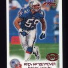 1999 Fleer Focus Football #106 Andy Katzenmoyer RC - New England Patriots
