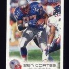 1999 Fleer Focus Football #029 Ben Coates - New England Patriots