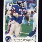 1999 Fleer Focus Football #021 Gary Brown - New York Giants