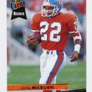 1993 Ultra Football #117 Glyn Milburn RC - Denver Broncos