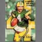 1996 Skybox Impact Football #197 Brett Favre Highlights - Green Bay Packers