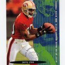 1995 FACT Fleer Shell Football #061 Jerry Rice - San Francisco 49ers