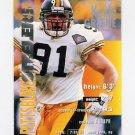 1995 FACT Fleer Shell Football #026 Kevin Greene - Pittsburgh Steelers