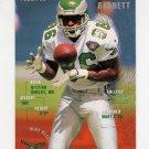 1995 FACT Fleer Shell Football #025 Fred Barnett - Philadelphia Eagles VgEx