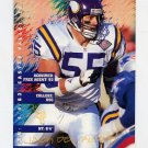 1995 FACT Fleer Shell Football #020 Jack Del Rio - Minnesota Vikings