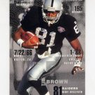 1995 FACT Fleer Shell Football #017 Tim Brown - Oakland Raiders ExMt