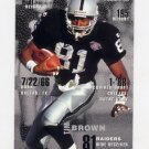 1995 FACT Fleer Shell Football #017 Tim Brown - Oakland Raiders NM-M