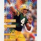 1995 FACT Fleer Shell Football #012 Brett Favre - Green Bay Packers NM-M