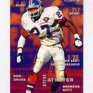 1995 FACT Fleer Shell Football #010 Steve Atwater - Denver Broncos